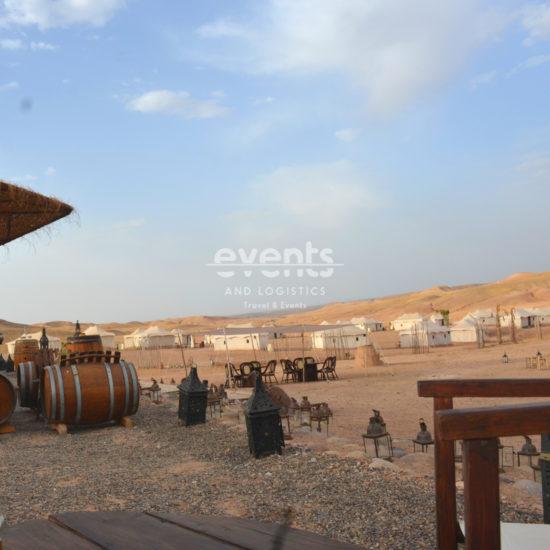 Nuit en bivouac de luxe au désert d'Agafay