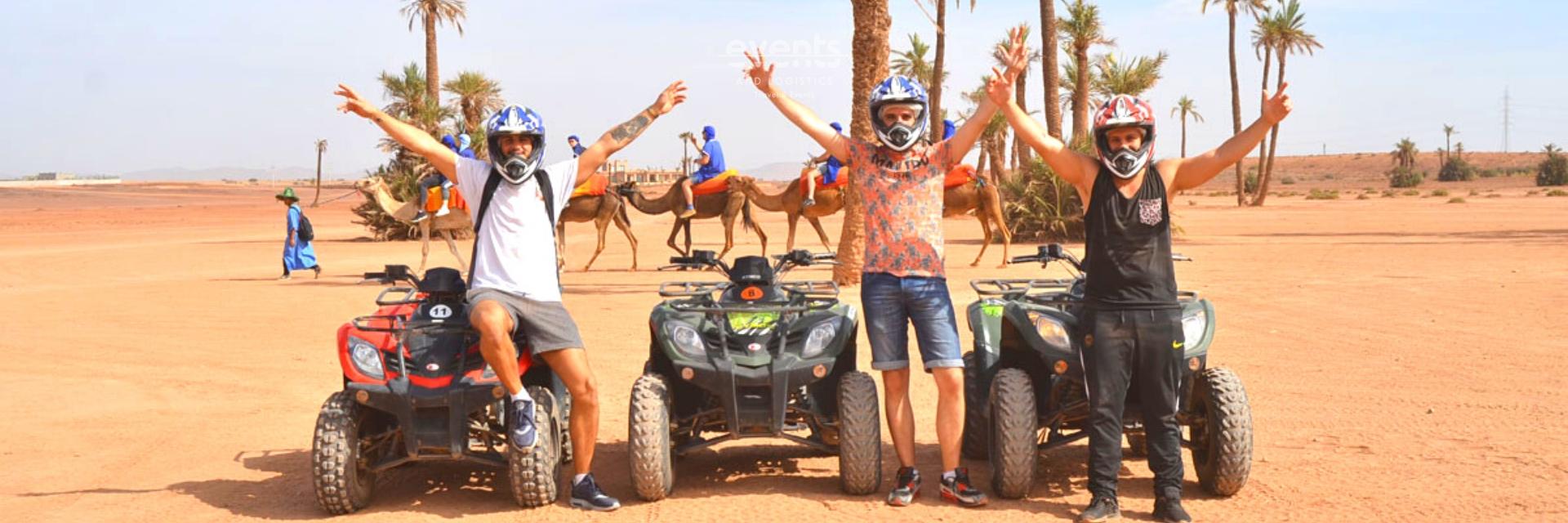 dromadaires & Quads palmeraie de Marrakech